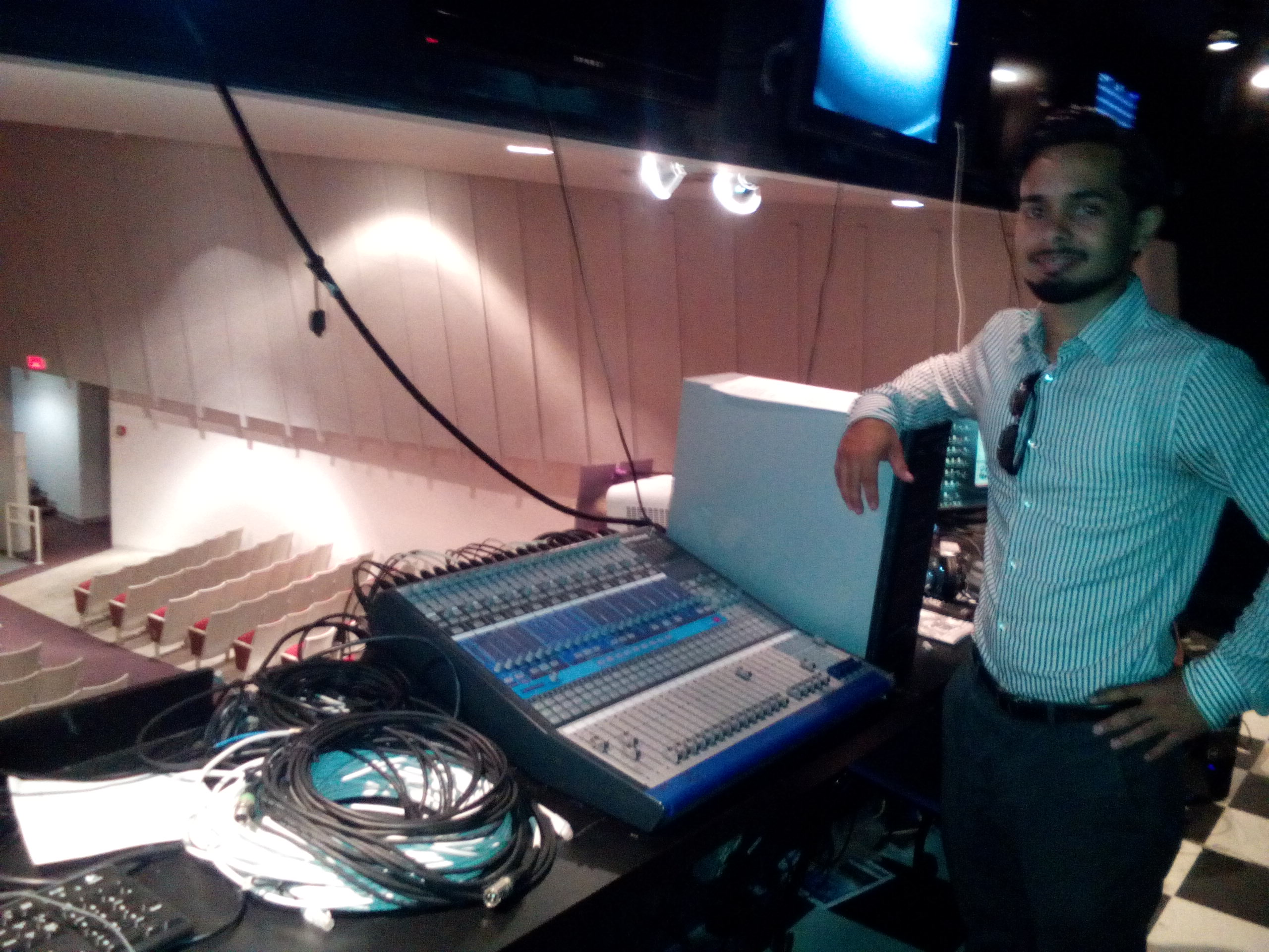 Speakers event control room
